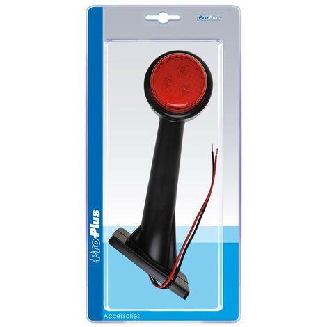 Feu de gabarit 12/24V rouge/blanc 166x193mm LED droite dans blister