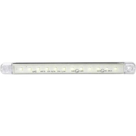 Feu de gabarit avant blanc SecoRüt 95722 verre transparent extrêmités de câble ouvertes 12 V, 24 V