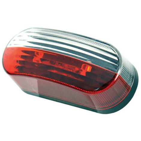 Feu de Gabarit LED OVALE ROUGEBLANC 12V