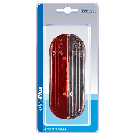 Feu de gabarit LED rouge/blanc droite dans blister