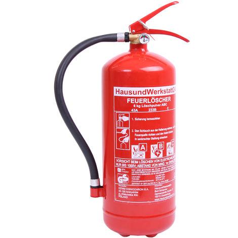 Feuerlöscher Pulver GP-6 x ABC 6 kg 10 LE versandkostenfrei