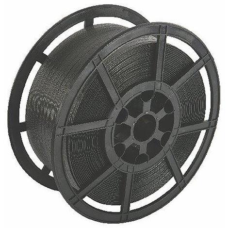 Feuillard pour cerclage, Noir, largeur 12.4mm, longueur 1000m