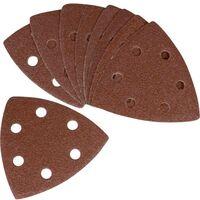 Feuille abrasive Delta avec bande auto-agrippante Ferm PSA1034 Grain 120 10 pc(s)