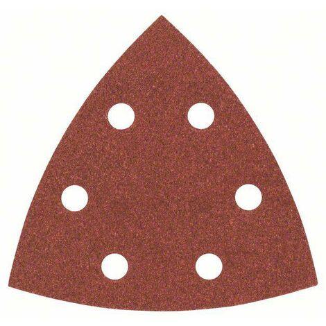 Feuille abrasive Delta avec bande auto-agrippante, perforé Bosch Accessories 2607017109 Grain 180 Cote d'encoignure 93 mm 25 pc(s) C90875