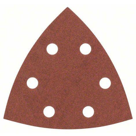 Feuille abrasive Delta avec bande auto-agrippante, perforé Bosch Accessories 2607017110 Grain 240 Cote dencoignure 93 m
