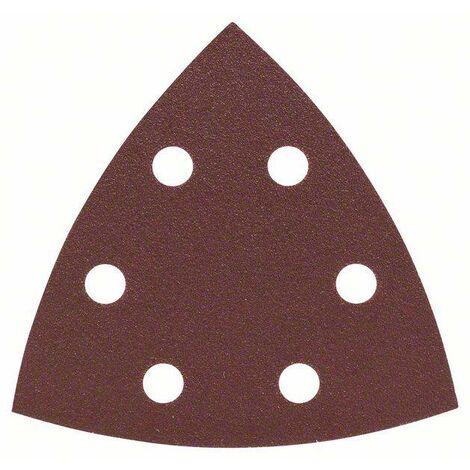 Feuille abrasive Delta avec bande auto-agrippante, perforé Bosch Accessories 2607019490 Grain 120 Cote d'encoignure 93 mm 25 pc(s) C90803