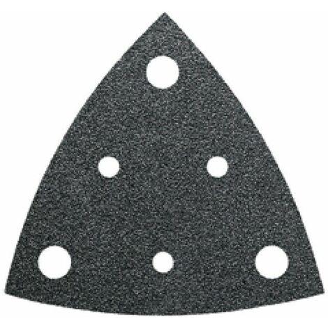 Feuille abrasive Delta avec bande auto-agrippante, perforé Fein 63717237010 Grain 60 Cote d'encoignure 80 mm 35 pc(s) C92338