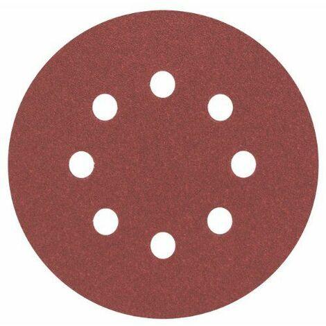 Feuille abrasive pour ponceuse excentrique avec bande auto-agrippante, perforé Bosch Accessories 2608605069 Grain num 8