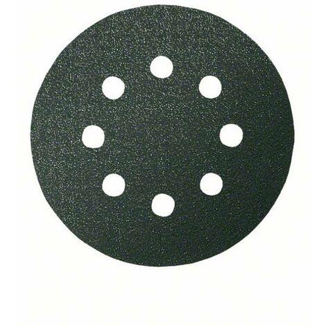 Feuille abrasive pour ponceuse excentrique avec bande auto-agrippante, perforé Bosch Accessories 2608605123 Grain num 1