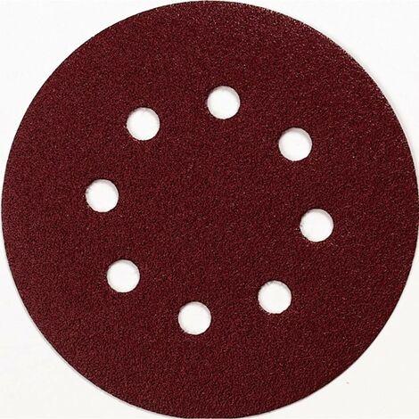 Feuille abrasive pour ponceuse excentrique Makita P-43533 avec bande auto-agrippante Grain 40 (Ø) 125 mm 10 pc(s)