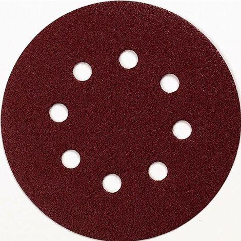 Feuille abrasive pour ponceuse excentrique Makita P-43561 avec bande auto-agrippante Grain 100 (Ø) 125 mm 10 pc(s) W064811