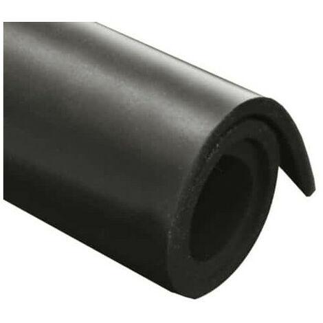 Feuille caoutchouc epdm 100x140cm épaisseur 5mm - Noir