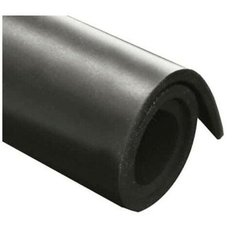 Feuille caoutchouc naturel 100x140cm épaisseur 1mm - Noir