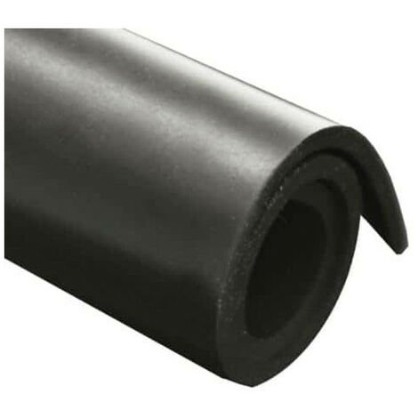 Feuille caoutchouc naturel 100x140cm épaisseur 5mm - Noir