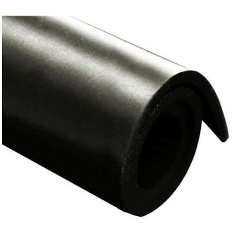Feuille caoutchouc naturel toile 100x140cm épaisseur 2mm - Noir