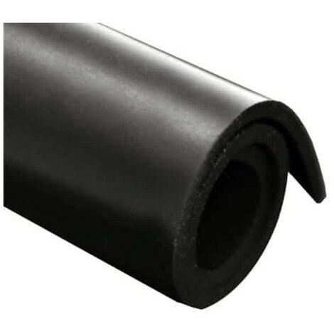 Feuille caoutchouc néoprène 100x140cm épaisseur 1mm - Noir