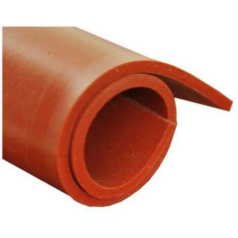 Feuille caoutchouc silicone rouge 100x120cm épaisseur 1mm - Rouge
