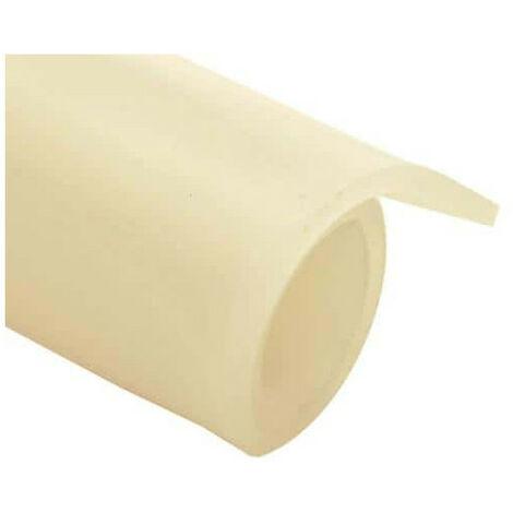 Feuille caoutchouc silicone translucide 100x120cm épaisseur 0.5mm