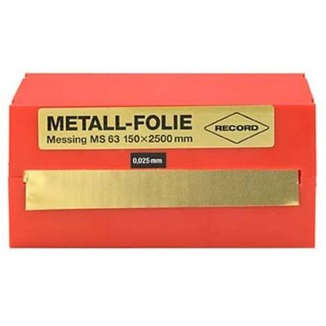 Feuille clinquant acier non allié 150x2500x0,025mm RECORD 1 PCS