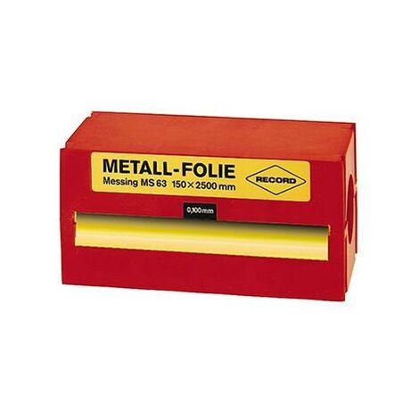 Feuille clinquant acier non allié 150x2500x0,100mm RECORD 1 PCS
