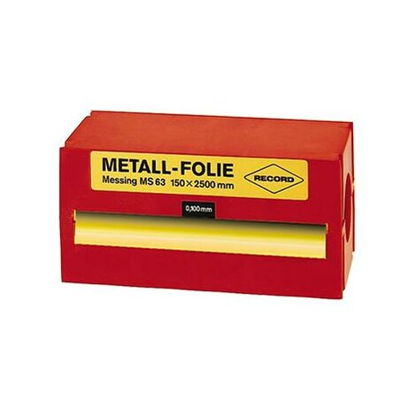 Feuille clinquant acier non allié 150x2500x0,250mm RECORD 1 PCS