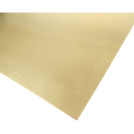 Feuille de laiton, 600mm x 300mm x 1.6mm