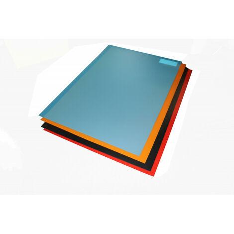Feuille de polypropylène compact et plein 1 mm (5 coloris)