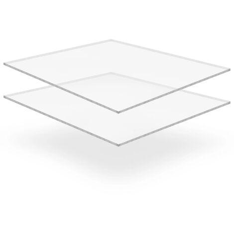 Feuille de verre acrylique transparent 2 pcs 40 x 60 cm 6 mm