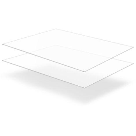 Feuille de verre acrylique transparent 2 pcs 60 x 80 cm 10 mm