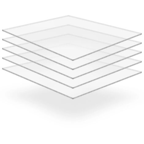 Feuille de verre acrylique transparent 5 pcs 40 x 60 cm 10 mm