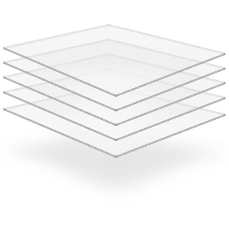 Feuille de verre acrylique transparent 5 pcs 40 x 60 cm 3 mm