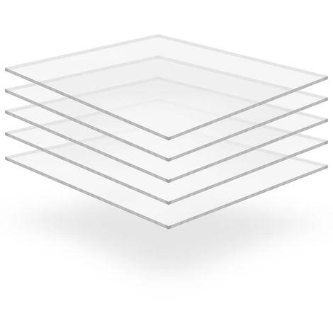 Feuille de verre acrylique transparent 5 pcs 40 x 60 cm 5 mm