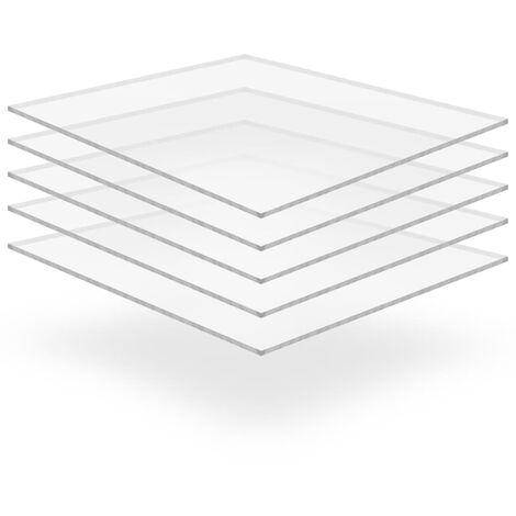 Feuille de verre acrylique transparent 5 pcs 40 x 60 cm 6 mm