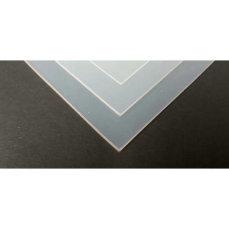Feuille en caoutchouc silicone Blanc, 600mm x 1.5mm x 600mm