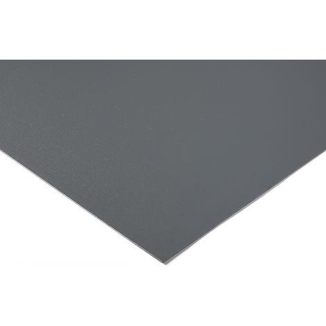 Feuille en plastique PVC Gris, 1m x 500mm x 50mm