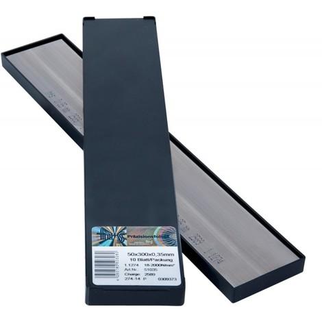 Feuille métalique 50x300x0,04mm 10Bl/P H+S