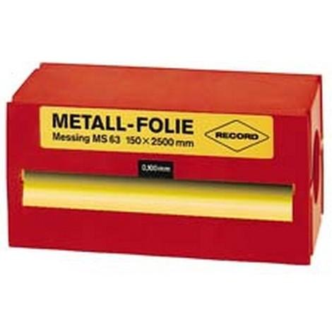 Feuille métallique en laiton (Ms 63), Épais. : de la feuille : 0,5 mm