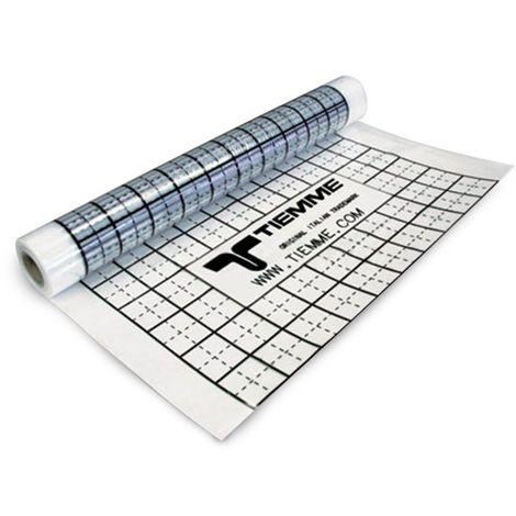 Feuille PE avec fonction isolante et barrière anti-humidité. Rouleau de 100 mt largeur 1,2 mt surface totale 120 m²