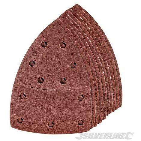 Feuilles abrasives auto-agrippantes 93 mm, 10 pcs, Grain 120
