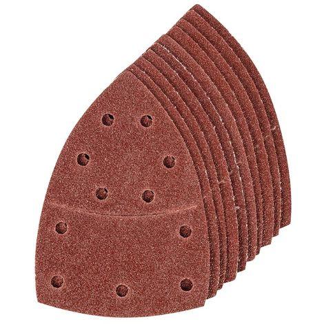 Ponceuses delta p 7 trous 150 x 100 mm Lot de 25 Grain 24 MioTools Fox Feuilles abrasives auto-agrippantes