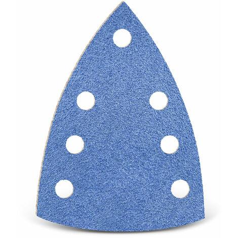 Feuilles abrasives auto-agrippantes MENZER, corindon de zirconium, 150 x 100 mm, G24–120