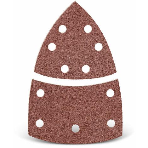 Feuilles abrasives auto-agrippantes MENZER, corindon normal, 93 mm / 62 x 102 mm, G40–240