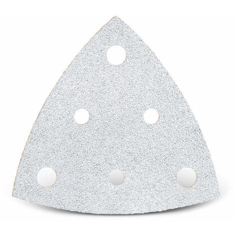 Feuilles abrasives auto-agrippantes MENZER, corindon normal avec stéarate, 82 mm, G40–400