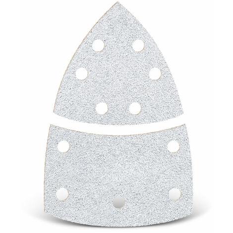 Feuilles abrasives auto-agrippantes MENZER, corindon normal avec stéarate, 93 mm / 62 x 102 mm, G40–400