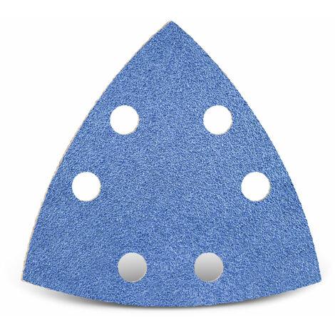Feuilles abrasives auto-agrippantes MENZER pour Bosch, corindon de zirconium, 93 mm, G24–120