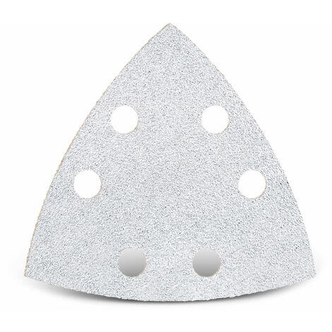 Feuilles abrasives auto-agrippantes MENZER pour Bosch, corindon normal avec stéarate, 93 mm, G40–400