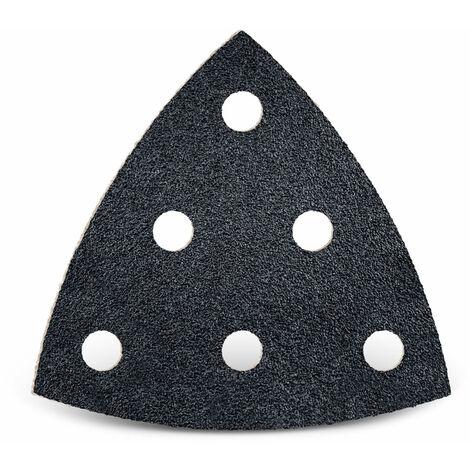 Triangles abrasifs Delta Lot de 100 feuilles de papier abrasif /à 6 trous 93 x 93 x 93 mm Grain 60//Delta