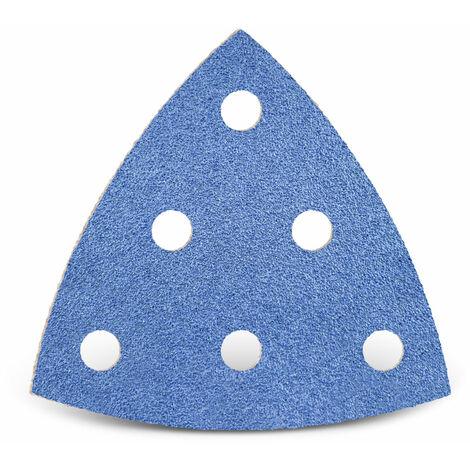 Feuilles abrasives auto-agrippantes MENZER pour Festool, corindon de zirconium, 93 mm, G24–120