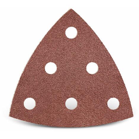 Feuilles abrasives auto-agrippantes MENZER pour Festool, corindon normal, 93 mm, G24–240