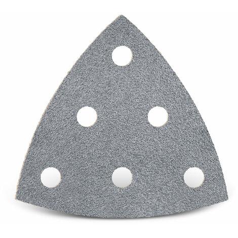 Feuilles abrasives auto-agrippantes MENZER pour Festool, corindon semi-précieux avec stéarate, 93 mm, G40–400